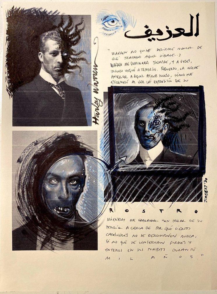 Bocetos de Daniel Jimbert para el libro