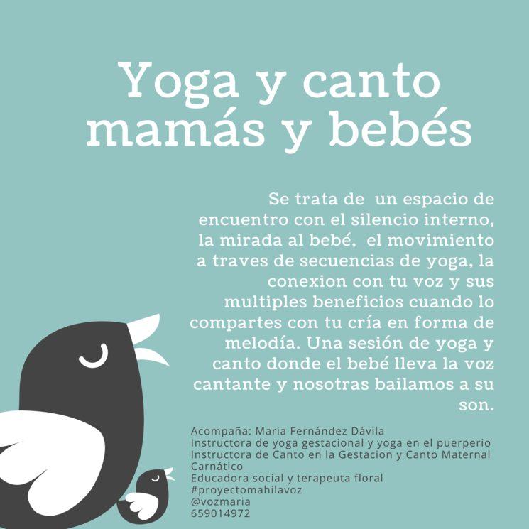 Canto y yoga mamás y bebés