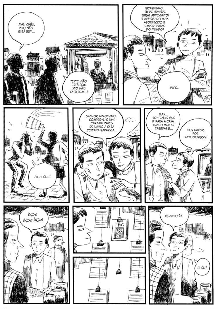 Página 7, desenhos Iván Suárez
