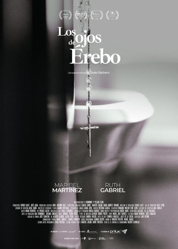 Cartel oficial de Los ojos de Érebo diseñado por Javier Detoni