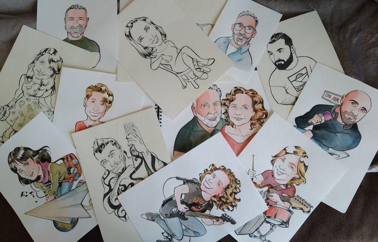 Algunas de las caricaturas de los mecenas recién salidas del horno