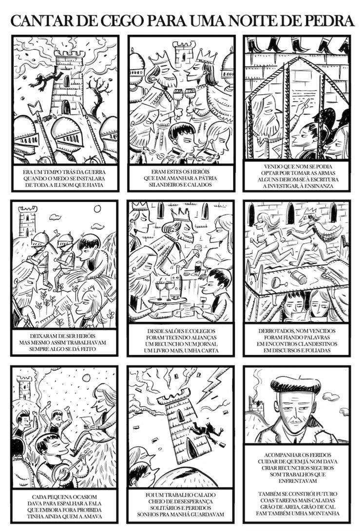 Cantar de cego ilustrado por Iván Suárez
