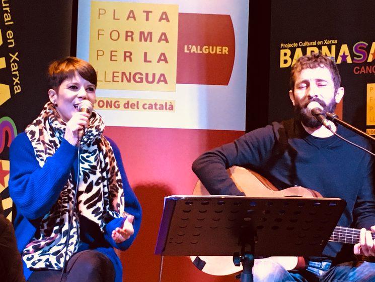Mireia Vives i Borja Penalba _Barna Sants e Plataforma de la llengua
