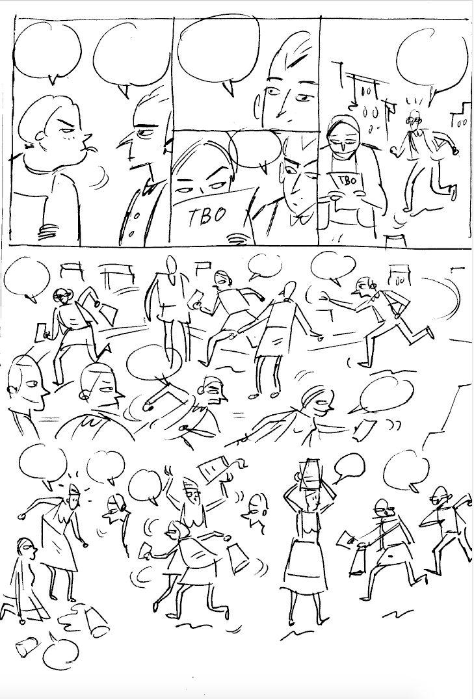 Página 08, bosquexo de Iván Suárez