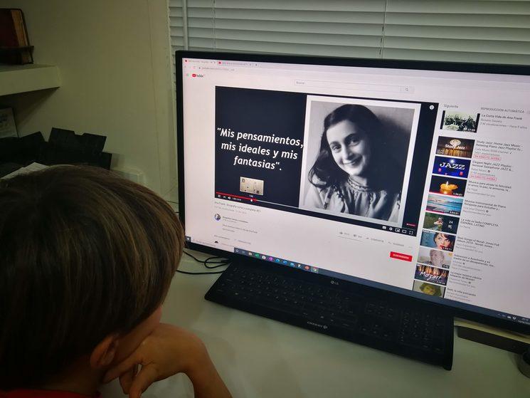 La historia de Ana Frank y su diario le hicieron valorar la suerte que tiene él
