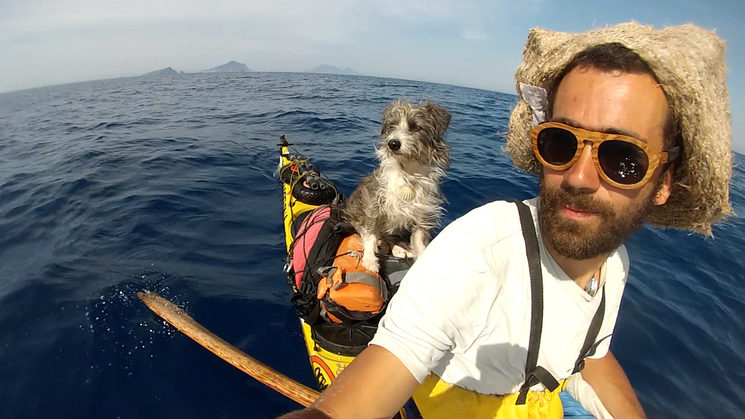 Nirvana and I on one of our Mediterranean crossings