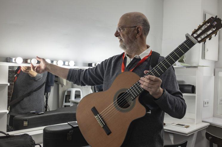 Foto de José Ramón Cuesta, el día de grabación del disco (joseramoncuesta.com)
