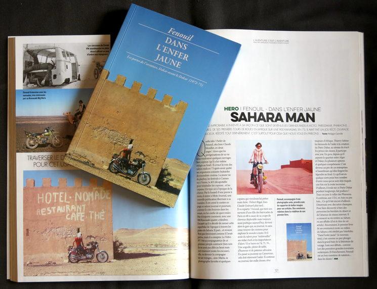 La cubierta de la edición francesa con un artículo en prensa.