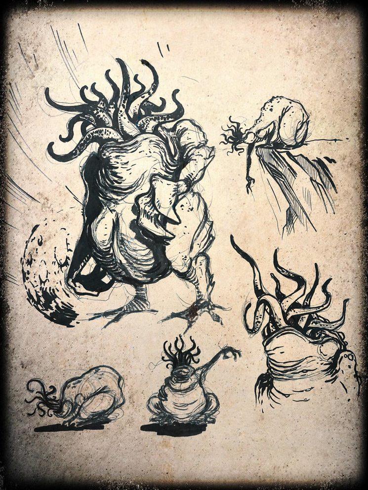 Bocetos de Daniel Jimbert para nuevas ilustraciones