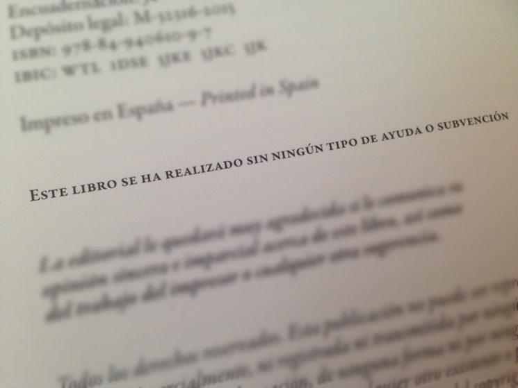 Página de créditos de uno de nuestros libros.