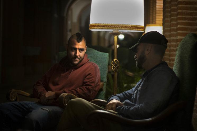 Carlo Blacksoul y Honky durante el rodaje de Cuelgamuros.
