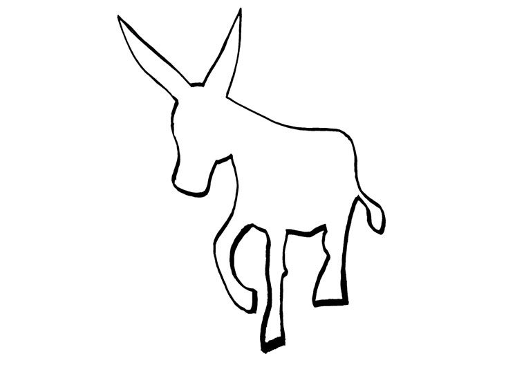 Logo de burro lector