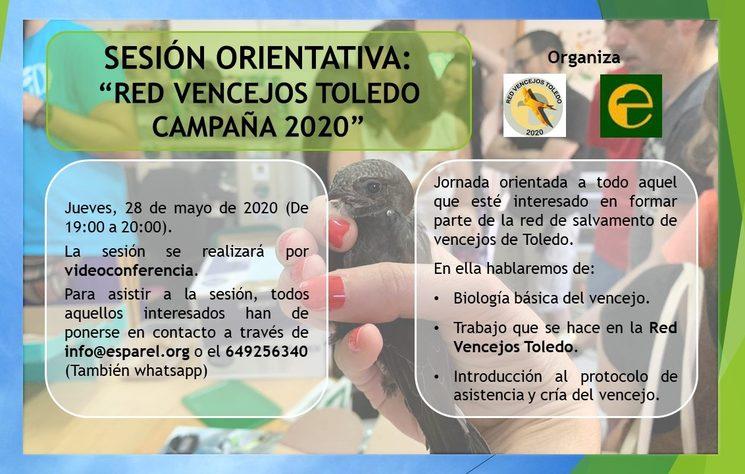 Sesión orientativa, jueves 28 de mayo.