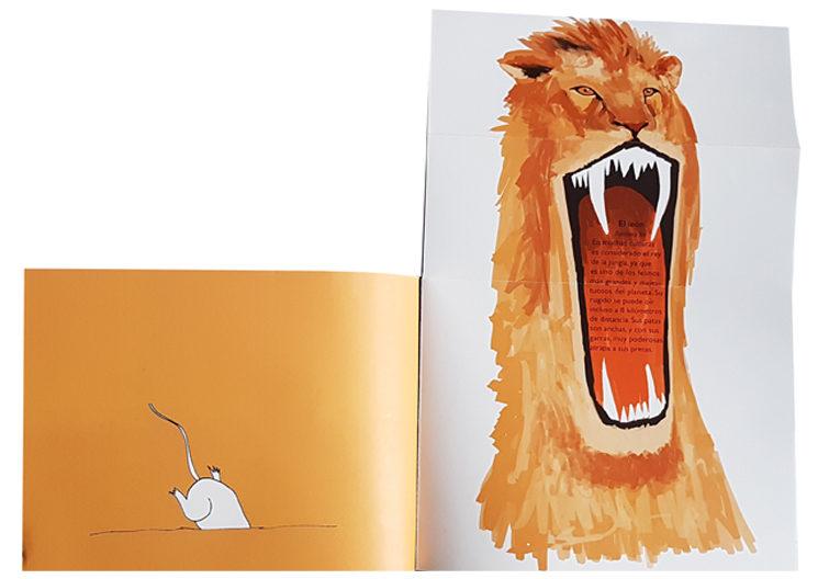"""""""El león"""" en la antigua edición del libro"""