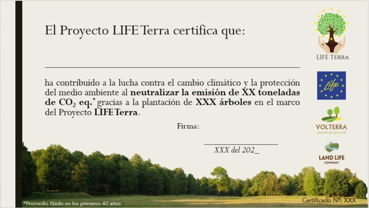 LIFE Terra certificate - preliminary design