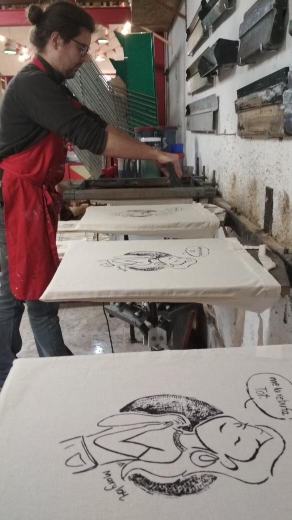 procès de serigrafia de les Tote Bags
