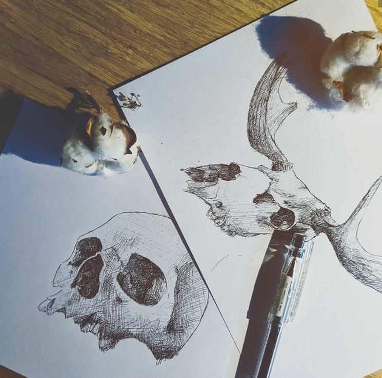 Trabajo de ilustración en trama para incorporar a nuestra maquetaciones de septiembre y octubre.