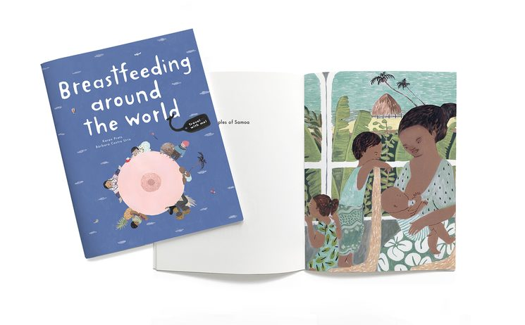 Breastfeeding Around the World book in mini version.