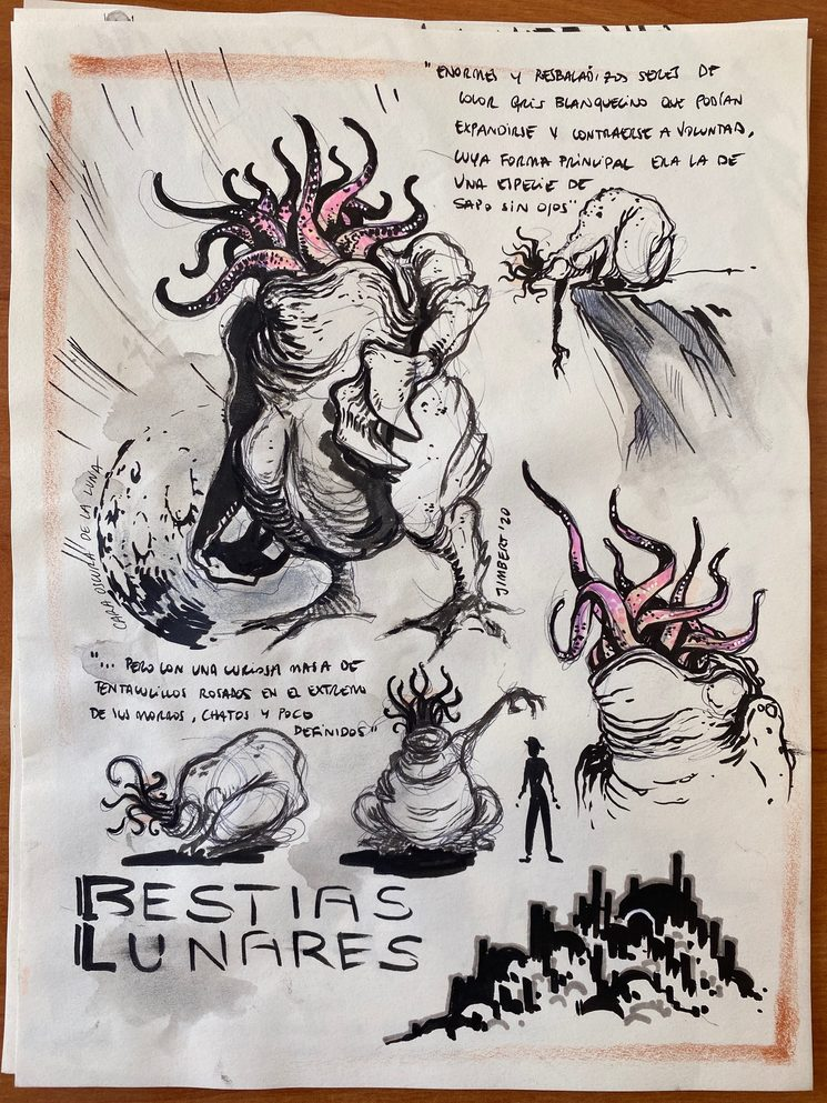 Boceto de Daniel Jimbert para el libro