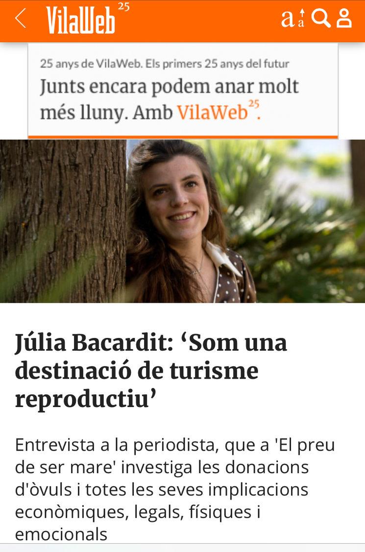 VilaWeb entrevista a Júlia Bacardit!