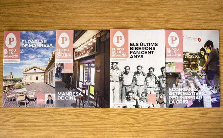 Imatge dels quatre darrers números de la revista