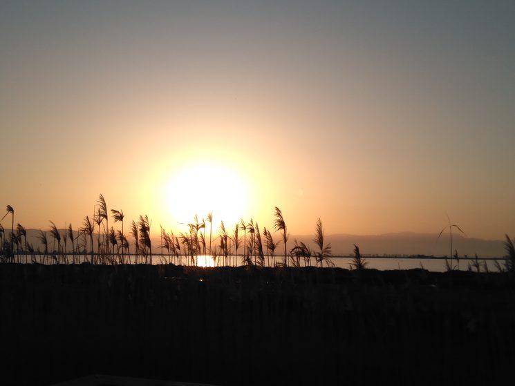 Posta de sol darrere Els Ports