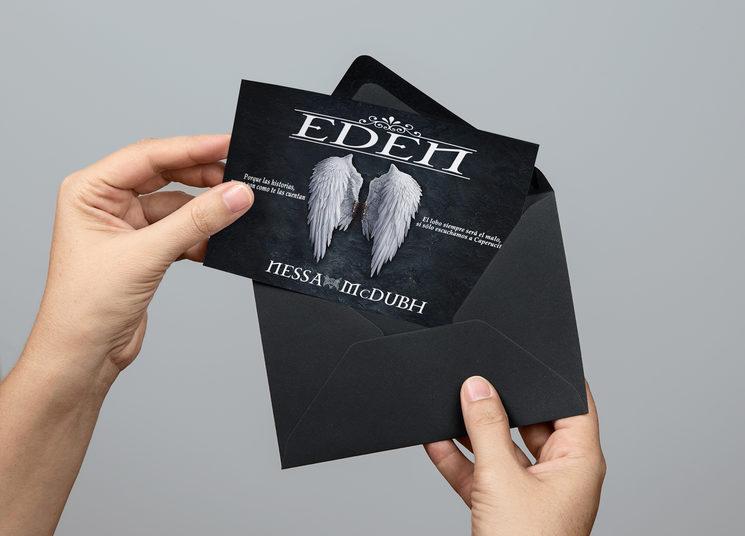 *Postal del primer libro de Eden