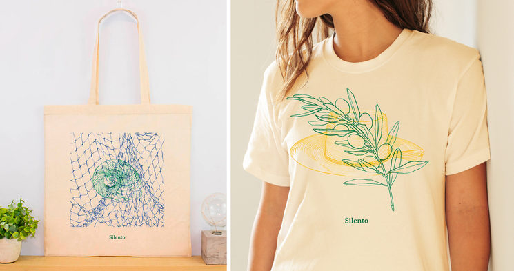 Preview of the tote bag and the unisex T-Shirt © Paloma Ferrer Fornes