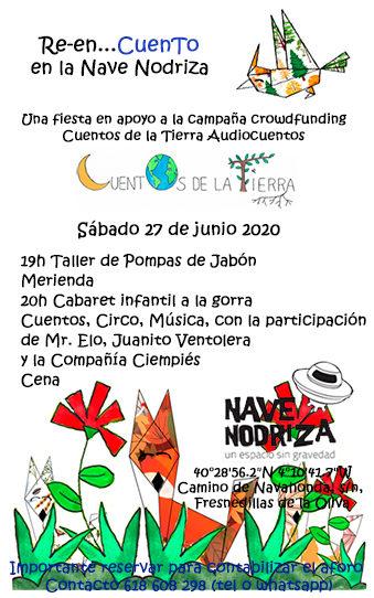 Fiesta/Cabaret infantil en apoyo a Cuentos de la Tierra. Sábado 27 de junio
