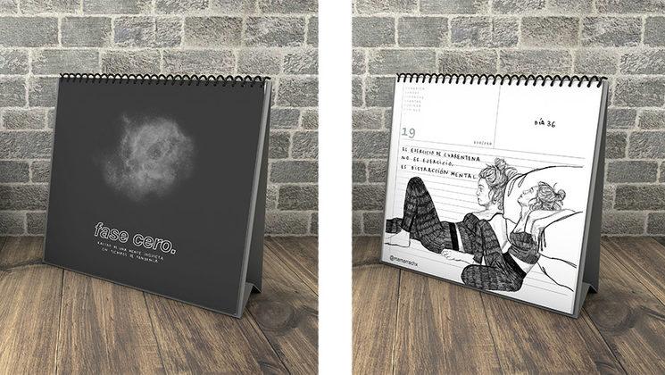 fotomontaje del diseño final del fanzine__mock up designed by  lucecitavectors / Freepik