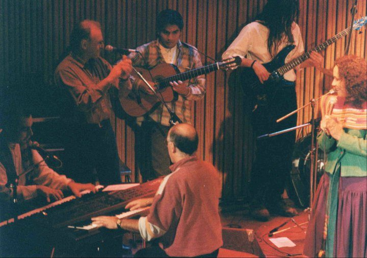 "Concert for the presentation of ""Solo luz"", with Suna Rocha, Raúl Carnota, Eduardo Spinassi and Rodolfo Sánchez in Buenos Aires"