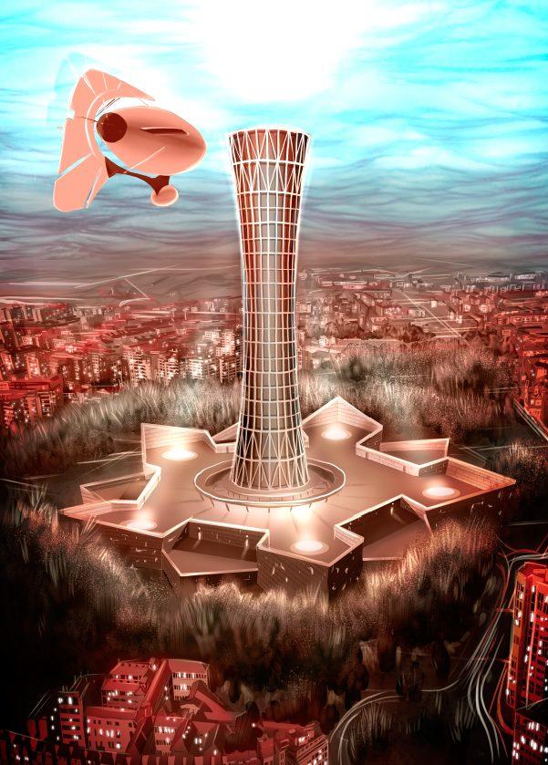 La ciudadela, una torre inexpugnable. Ilustración: Daniel Gojénola.
