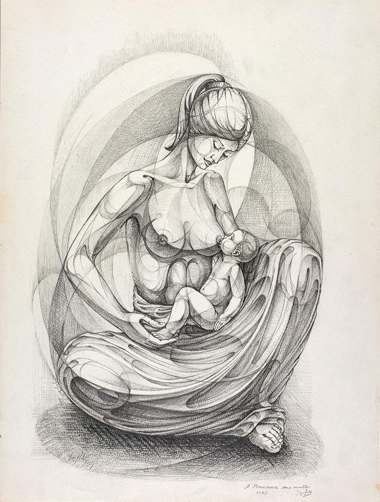 Maternidad Sentada - Josep Tello Andrés (1985)