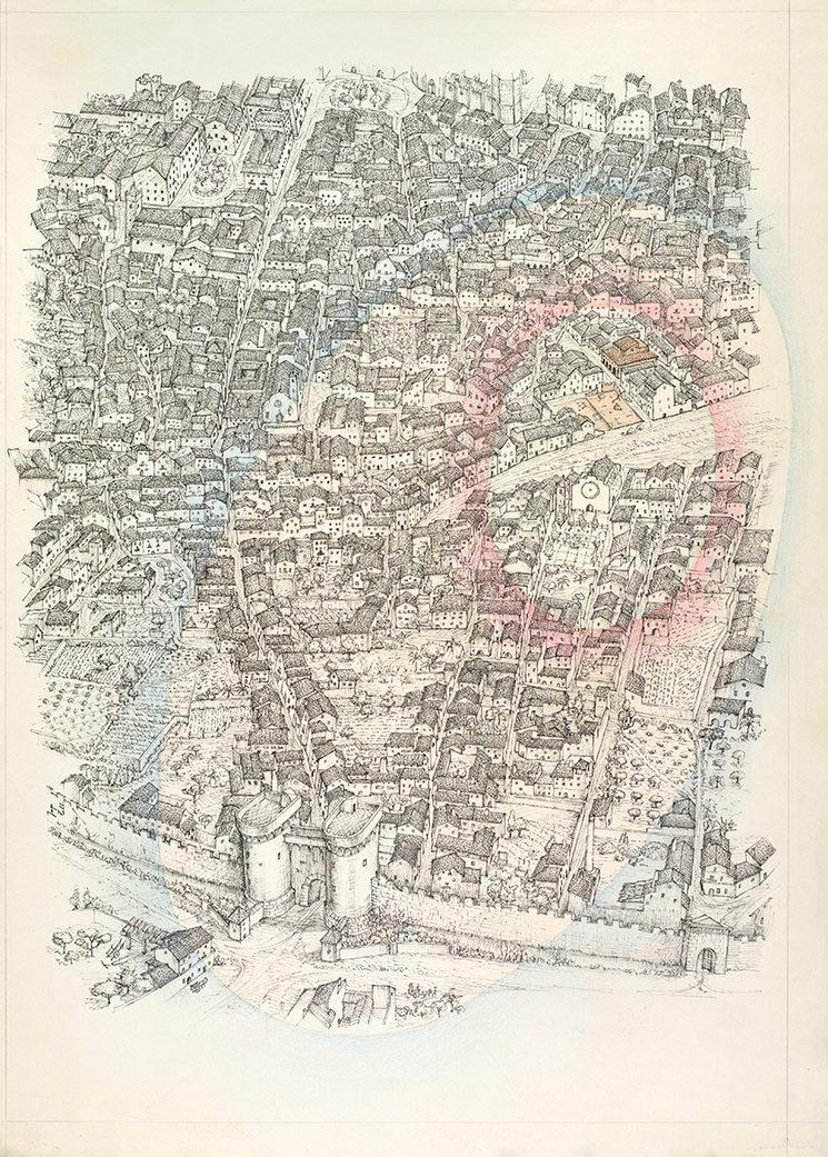 Detall del mapa de València - Josep Tello Andrés (1990)