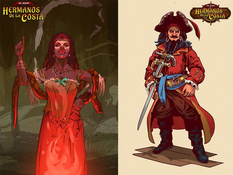 Arquetipos de Bruja y Capitán Pirata