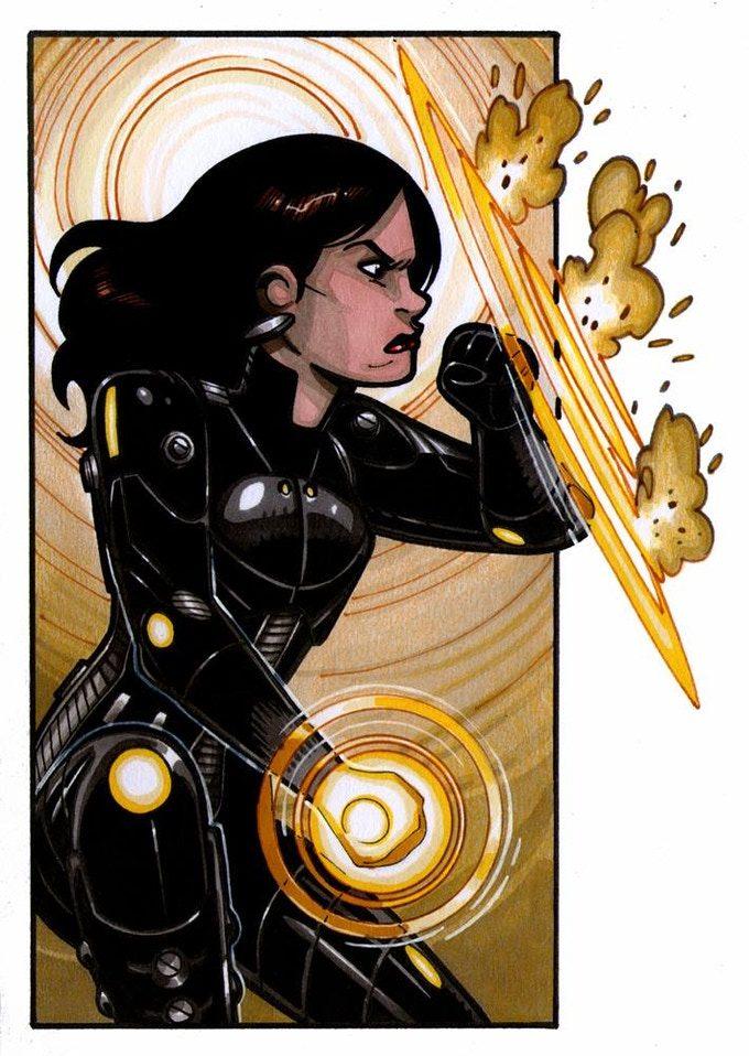 Pulsewave, otra de las superheroínas icónicas del Gallanverso