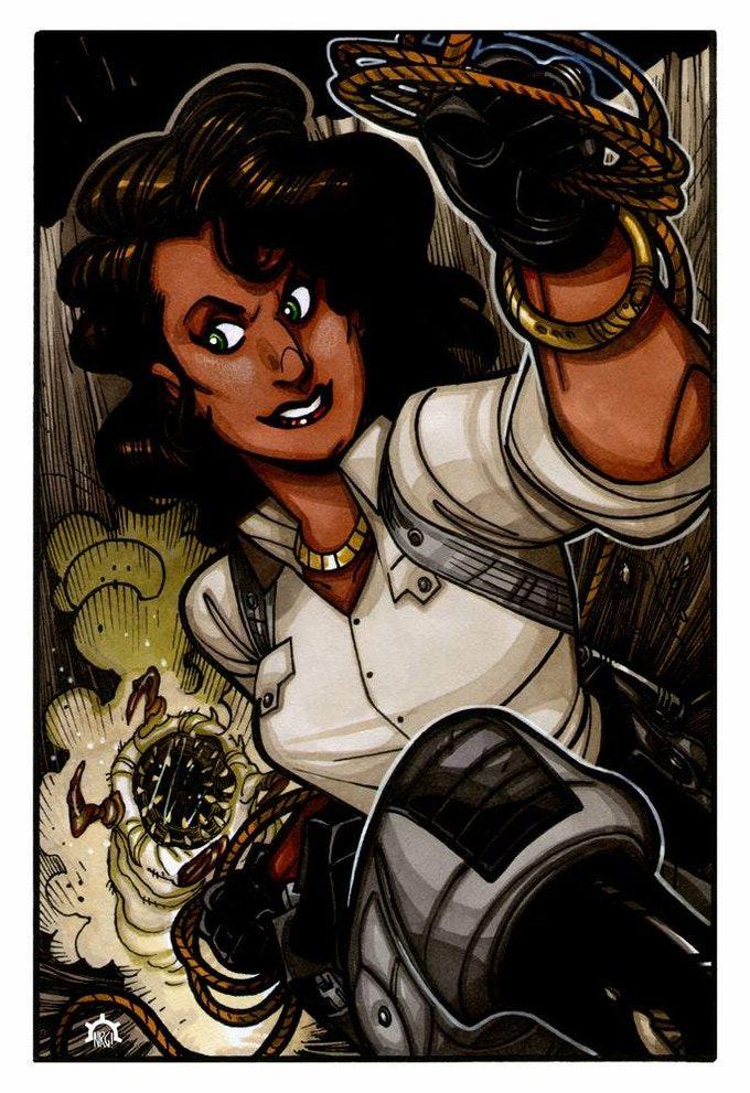 Arqueóloga y superheroína, Eagle es otra de las heroínas icónicas del Gallantverso.
