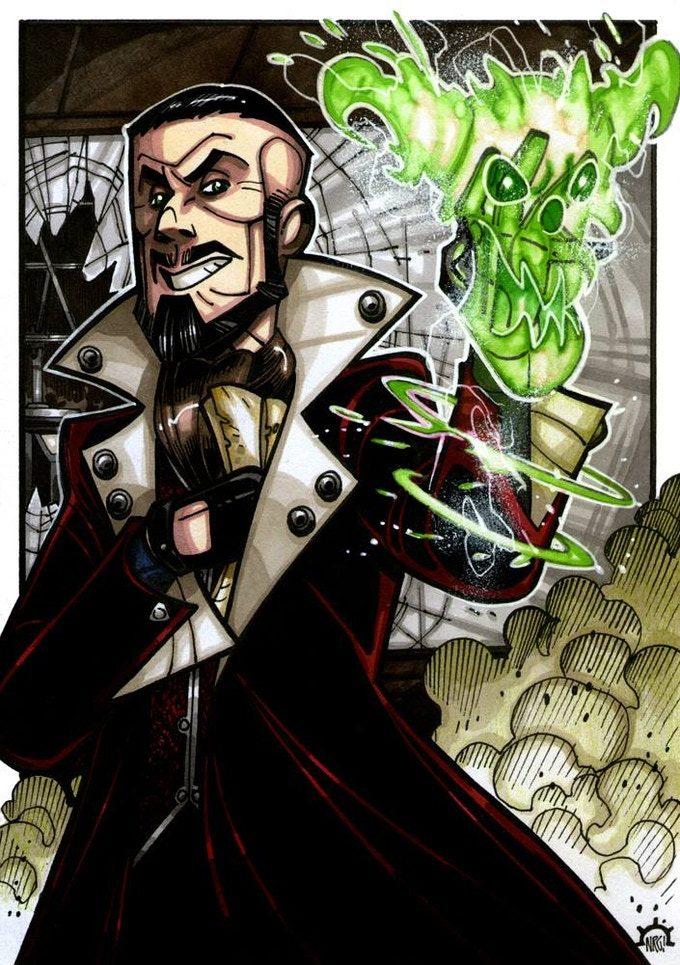 Montebank, un siniestro hechicero y un peligroso villano