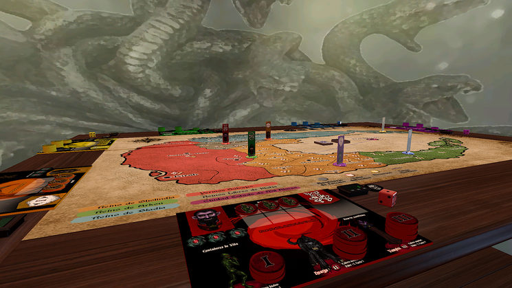 Imágenes de la demo virtual en Tabletop Simulator