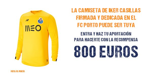Consigue la camiseta de Iker Casillas firmada aportando en nuestra campaña