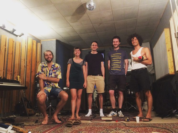 the band and music producer in the Big Snuff Studio where we will record