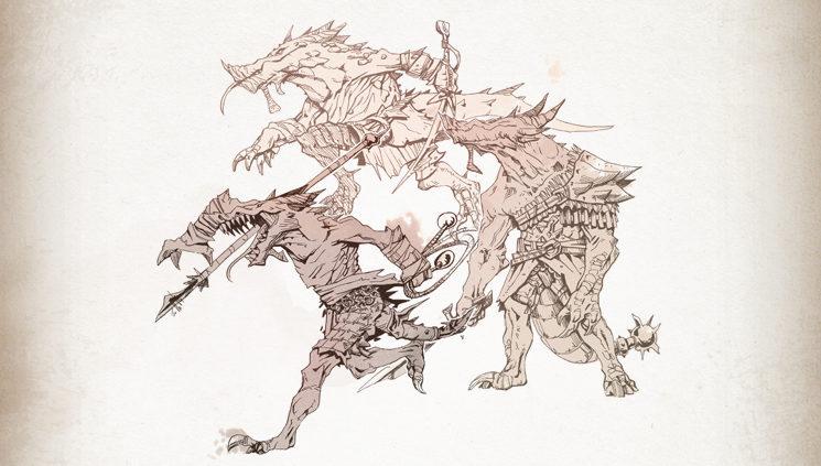 Kobolds, humanoides reptilianos con cierto parentesco a los dragones cuyas tácticas en equipo pueden vencer hasta los más poderosos