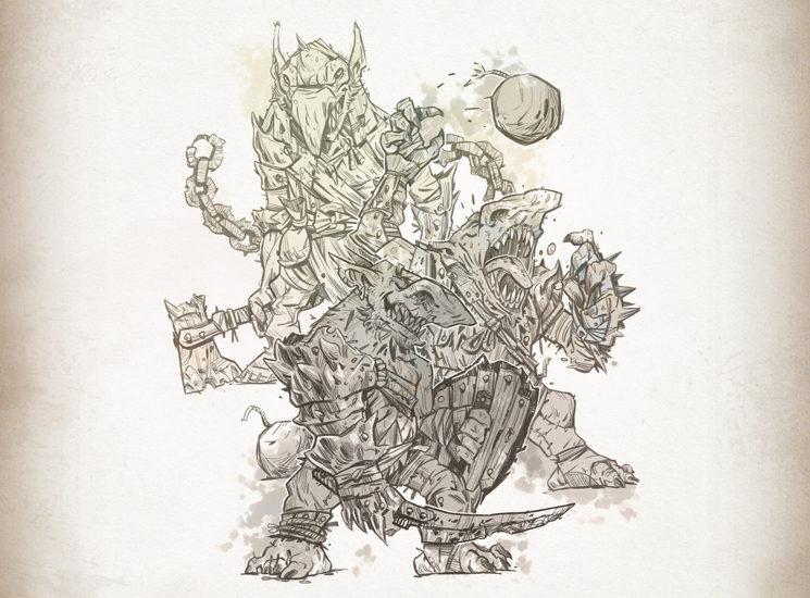 Los goblins, pequeños y caóticos que en grupos numerosos pueden llegar a ser temibles.