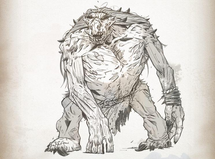 Trolls, criaturas prácticamente invencibles, solitarias y peligrosas cuando la comida escasea