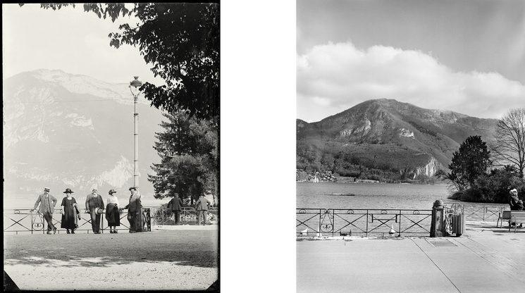 Izquierda: Annecy, 1921 ...  Derecha: Annecy, 2020