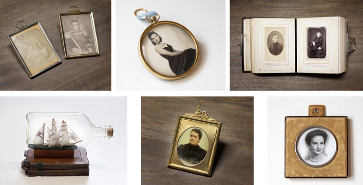 Objetos adquiridos en el Rastro para el archivo del Ministerio de la Imagen Perdida