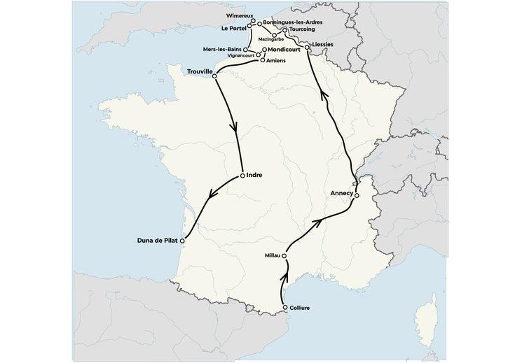 Ruta por Francia en busca del rastro de Wattebled. Febrero, 2020