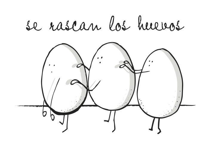 se rascan los huevos