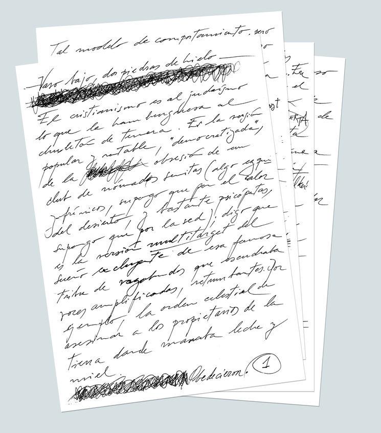 Vista de la introducción manuscrita por el autor: José Luis Ducid