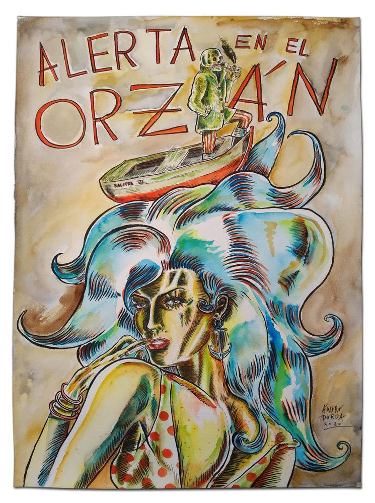 Muestra de ilustración original, por Álvaro Dorda